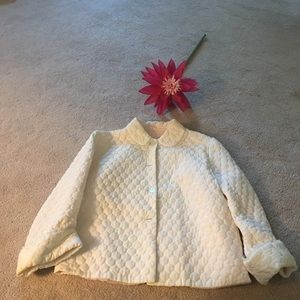 Other - Vintage Neiman Marcus quilted shawl bed pinkjacket